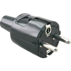 Plug Earth PVC Black