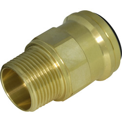Compressed Air Brass Straight Adaptor 22mm x 3/4 BSPT