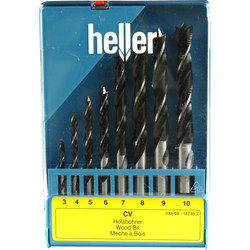 Heller CV Wood Drill Bit 8 Piece