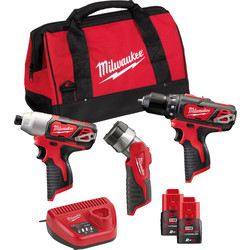 Milwaukee Milwaukee M12 BPP3A combopack 12V  Li-ion - 67870 - van Toolstation