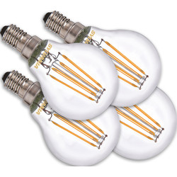 Sylvania Sylvania ToLEDo LED lamp filament kogel  E14 4,5W 470lm 2700K - 67930 - van Toolstation
