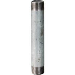 "Straight pipe double nipple zinc  3/4"" x 400 mm"