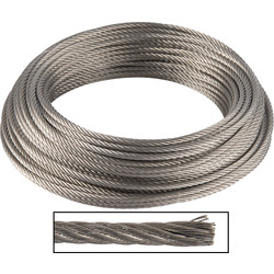 Stainless steel cable AISI 317 4 mm x 25 m