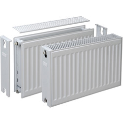 Plieger Compact radiator type 22 600 x 1400mm 2456W - 71888 - van Toolstation