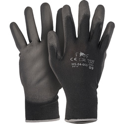 PU Coated Nylon Gloves XL black
