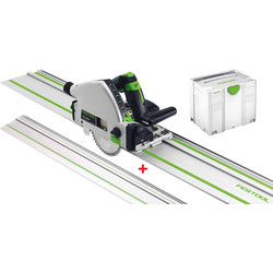 Festool TS 55 REBQ-Plus Invalzaag machine + extra geleiderail 1400mm
