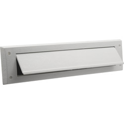 Ellen White Letterbox Plate with Draught Flap