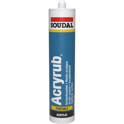 Soudal Soudal acryrub Wit 310ml - 79140 - van Toolstation