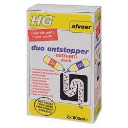 HG HG duo ontstopper 2x500ml - 79479 - van Toolstation