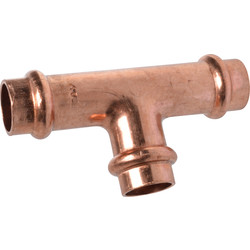 Copper Press T-piece 22 x 15 x 22 mm for V-conture