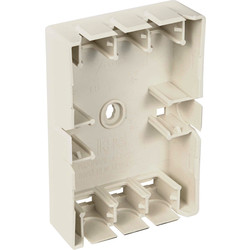 Conduit Box Universal Without Lid Cream