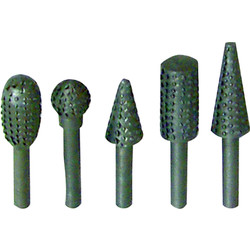 Set 5-piece drill rasps 5 pcs