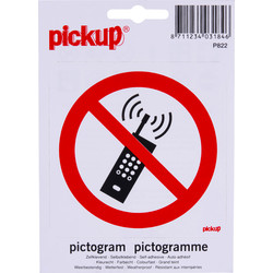 Mobile Phones Prohibited Sticker 10x10cm