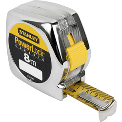 Stanley Power Lock Tape Measure 8m - 25mm