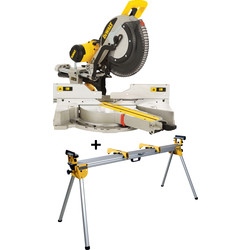 DeWALT DWS780KIT compound mitre saw including stand 305mm