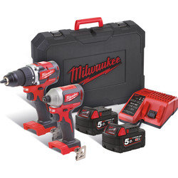 Milwaukee Milwaukee M18 CBLPP2B-502C combopack 18V Li-ion - 87167 - van Toolstation