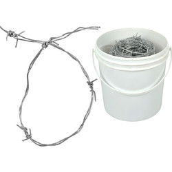 Galvanised Barbed Wire  25m