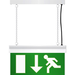 Emergency exit light White