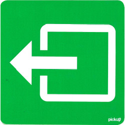 Normal Exit Sticker 10 x 10cm