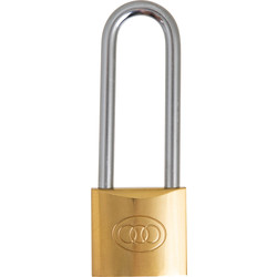 Brass padlock with high bar 40 mm