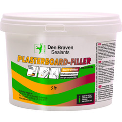 Zwaluw Plasterboard Filler Bucket 5000ml, white