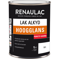 Renaulac high-gloss alkyd varnish 1L white