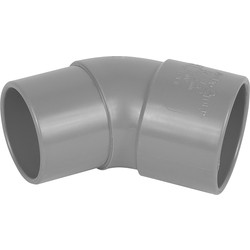 Wavin PVC HWA bocht 45º 80mm - 94089 - van Toolstation