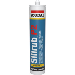Soudal silirub P2 beglazing wit 310ml