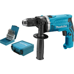 Makita HP1631KX2 hammer drill + 18-piece drill bit set