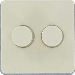 Peha Duo dimmer 25-200W inbouw Creme - 97329 - van Toolstation
