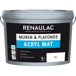 Renaulac acrylic latex matt 5L white