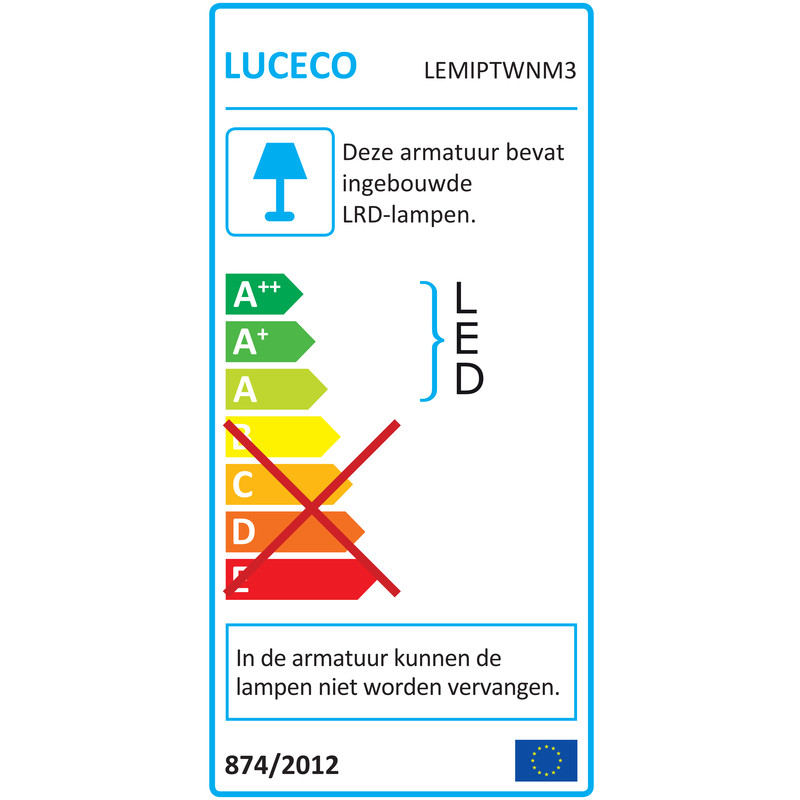 Luceco Tempus LED noodverlichting met 2 spots