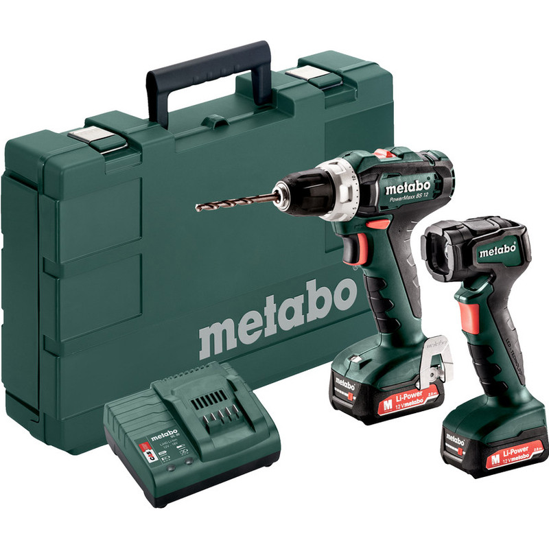 Metabo Set PowerMaxx BS 12 accu schroefboormachine