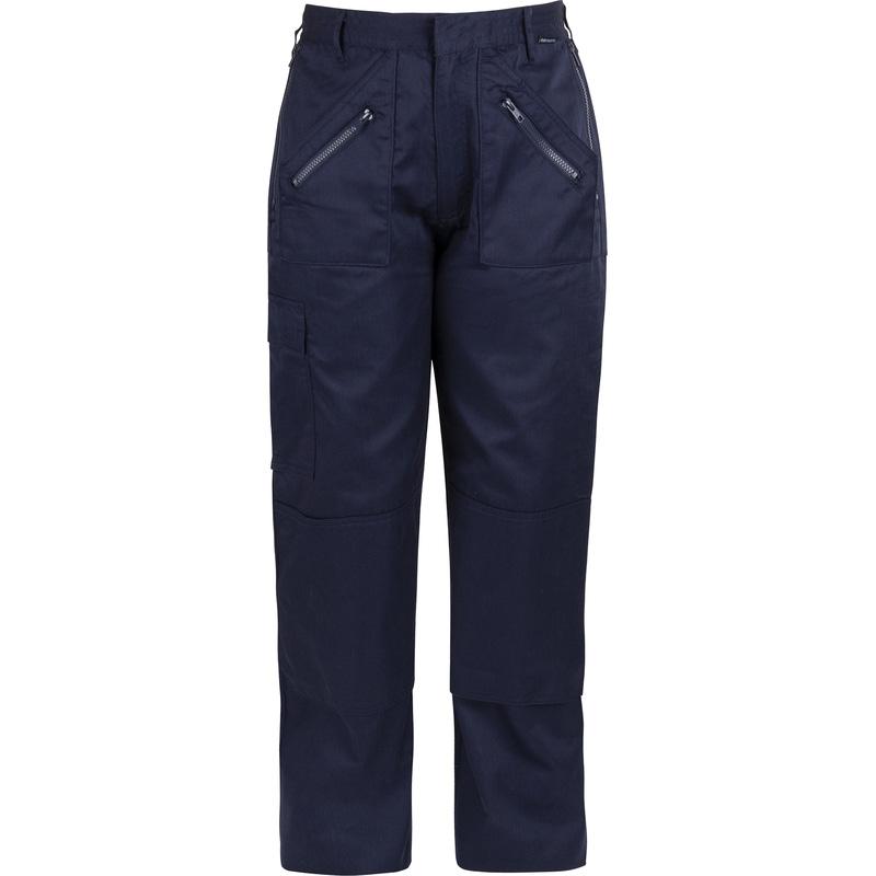 portwest action dames werkbroek met kniezakken m marineblauw