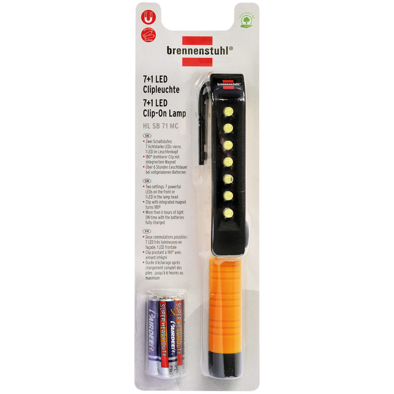Brennenstuhl 7+1 LED Cliplamp HL SB 71 MC
