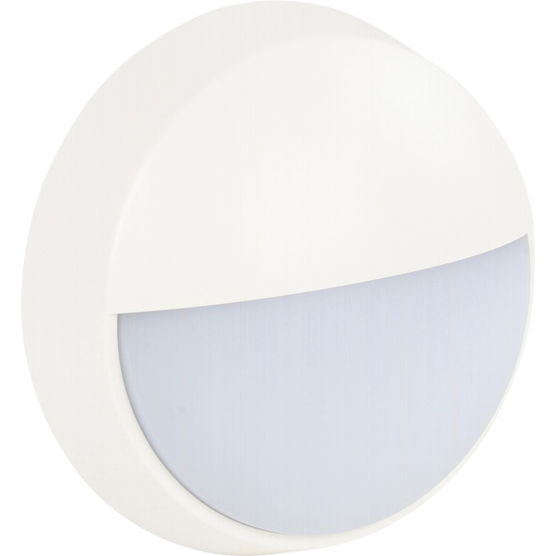Luceco rond LED buitenlamp zwart/wit