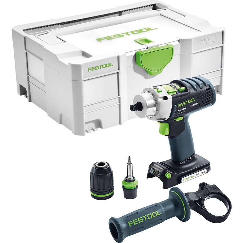 Festool PDC 18/4 Li- Basic QUADRIVE accu klopboormachine